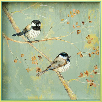Two Chickadees Tray