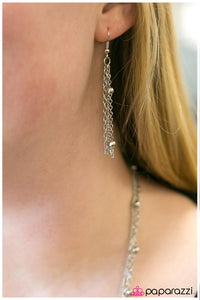 Paparazzi ♥ Metallic Crescendo- Silver ♥  Necklace