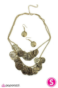 Paparazzi ♥ COIN Artist - Brass ♥ Necklace