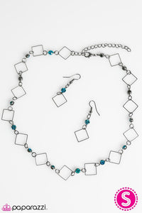 Paparazzi ♥ City Block - Blue ♥ Necklace