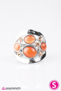 Paparazzi ♥ Swept Away - Orange ♥ Ring