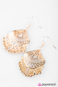 Paparazzi ♥ Can You Do The Can-Can? - Gold ♥ Earrings