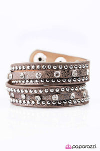 Paparazzi ♥ No Boys Allowed - Brown ♥  Bracelet