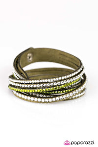 Paparazzi ♥ Strong Is The New Beautiful - Green ♥ Bracelet