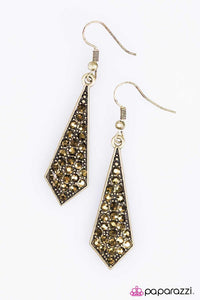 Paparazzi ♥ Digging for Glitter - Brass ♥ Earrings