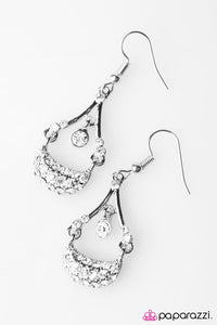 Paparazzi ♥ SHIMMER Solstice - White ♥ Earrings