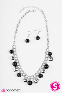 Paparazzi ♥ Twitterpated - Black ♥  Necklace