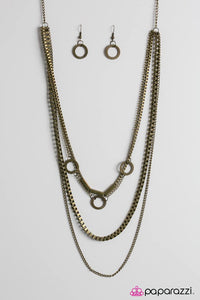 Paparazzi ♥ Go Go Gadget - Brass ♥ Necklace
