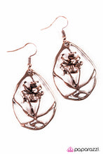 Load image into Gallery viewer, Paparazzi ♥ The Enchanted Rose - Copper ♥  Earrings