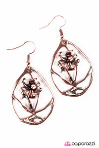 Paparazzi ♥ The Enchanted Rose - Copper ♥  Earrings