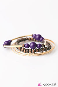 Paparazzi ♥ All Or Nothing - Purple ♥ Bracelet