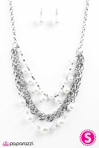 Paparazzi ♥ When On Wall Street - White ♥ Necklace
