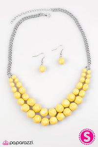 Paparazzi ♥ Parkview Picnic - Yellow ♥ Necklace