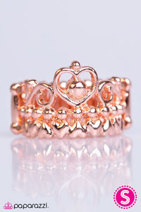 Paparazzi ♥ Crown of Hearts - Copper ♥ Ring