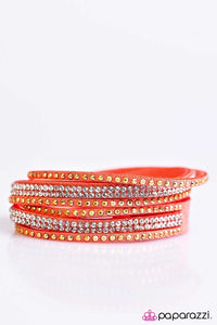 Paparazzi ♥ Stop, Drop, and Sparkle - Orange ♥ Bracelet