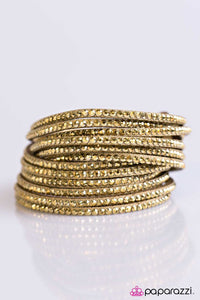 Paparazzi ♥ Do The Hustle - Brass ♥ Bracelet