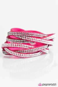 Paparazzi ♥ Send In The Sparkle! - Pink ♥ Bracelet