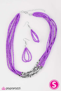 Paparazzi ♥ Crash The Party - Purple ♥  Necklace