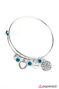 Paparazzi ♥ Love To Bits - Blue ♥  Bracelet