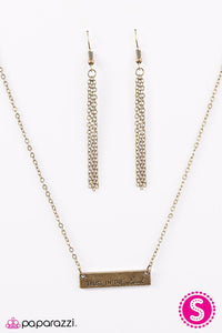 Paparazzi ♥ Trust In The Lord - Brass ♥ Necklace