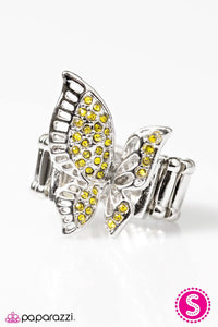Paparazzi ♥ With Brave Wings She Flies - Yellow ♥ Ring
