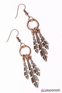 Paparazzi ♥ Pluck Up Your Courage - Copper ♥ Earrings