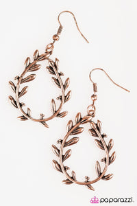 Paparazzi ♥ Willow Creek - Copper ♥ Earrings