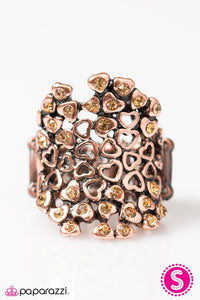 Paparazzi ♥ Heart Happenstance - Copper ♥ Ring