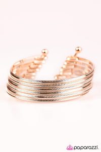 Paparazzi ♥ River Rapids - Rose Gold ♥ Bracelet