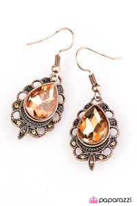Paparazzi ♥ Classy Casanova - Copper ♥  Earrings
