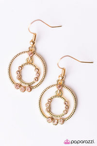 Paparazzi ♥ On The Bubble - Gold ♥ Earrings