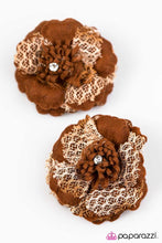 Load image into Gallery viewer, Paparazzi ♥ Cherokee Rose - Brown ♥ Hair Clip