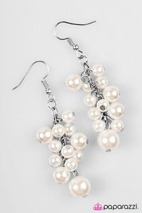 Paparazzi ♥ Give Me A BAROQUE! - White ♥ Earrings