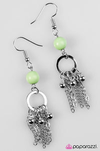 Paparazzi ♥ Swift and SHORE - Green ♥ Earrings