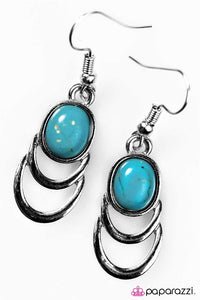 Paparazzi ♥ Break New Ground - Blue ♥ Earrings