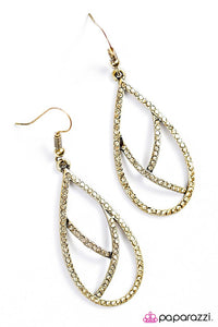 Paparazzi ♥ Take By Storm - Brass ♥ Earrings
