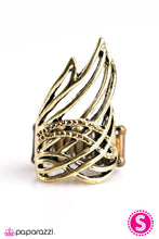 Load image into Gallery viewer, Paparazzi ♥ Catch Fire - Brass ♥ Ring