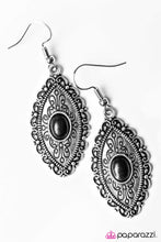 Load image into Gallery viewer, Paparazzi ♥ Trail Queen - Black ♥  Earrings