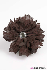 Paparazzi ♥ Best LACE Forward - Brown ♥ Hair Clip