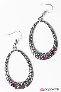 Paparazzi ♥ Party Over Here - Pink ♥ Earrings