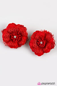 Paparazzi ♥ Cherokee Rose - Red ♥ Hair Clip