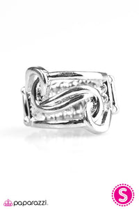 Paparazzi ♥ Tantalizingly Tangled - Silver ♥ Ring