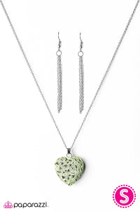 Paparazzi ♥ Work of HEART - Green ♥ Necklace