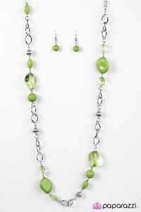 Paparazzi ♥ GLASS-ical Music - Green ♥ Necklace