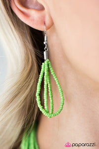Paparazzi ♥ Wide Open Spaces - Lime Green ♥ Necklace