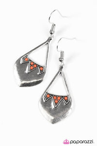 Paparazzi ♥ Dig Deep - Orange ♥ Earrings
