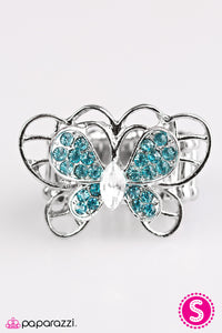 Paparazzi ♥ Butterfly Banquet - Blue ♥  Ring