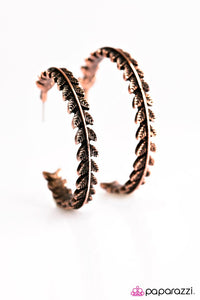 Paparazzi ♥ Rome Roaming - Copper ♥ Earrings