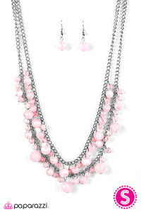 Paparazzi ♥ Summer Isles - Pink ♥  Necklace