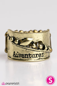 Paparazzi ♥ Lifes An Adventure - Brass ♥ Ring